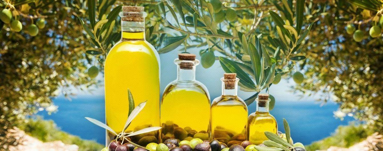Оливки, олія оливкова та соняшника